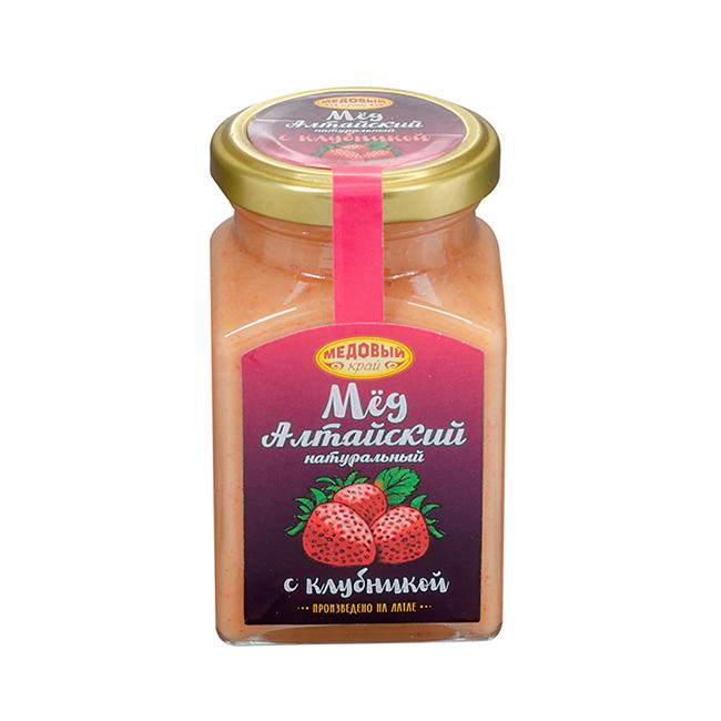Алтайский мёд с клубникой