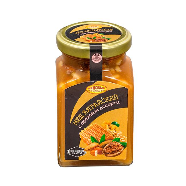 Алтайский мёд с ореховым ассорти