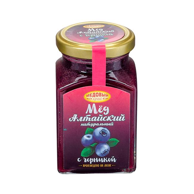 Алтайский мёд с черникой
