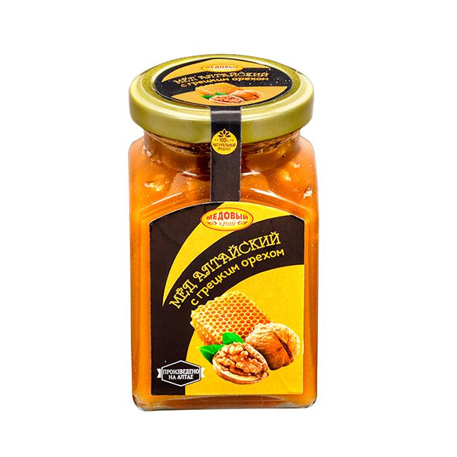Алтайский мёд с грецким орехом