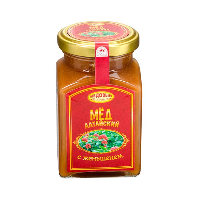 Алтайский мёд с женьшенем