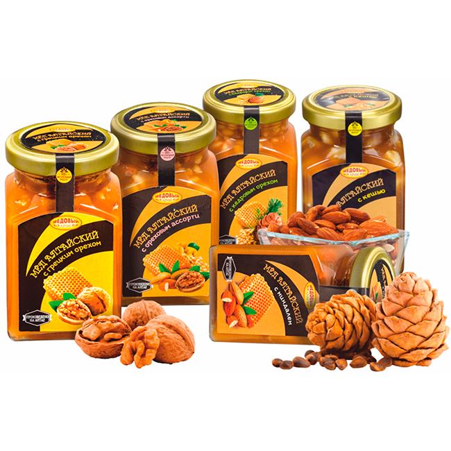 Медовые композиции с орехом