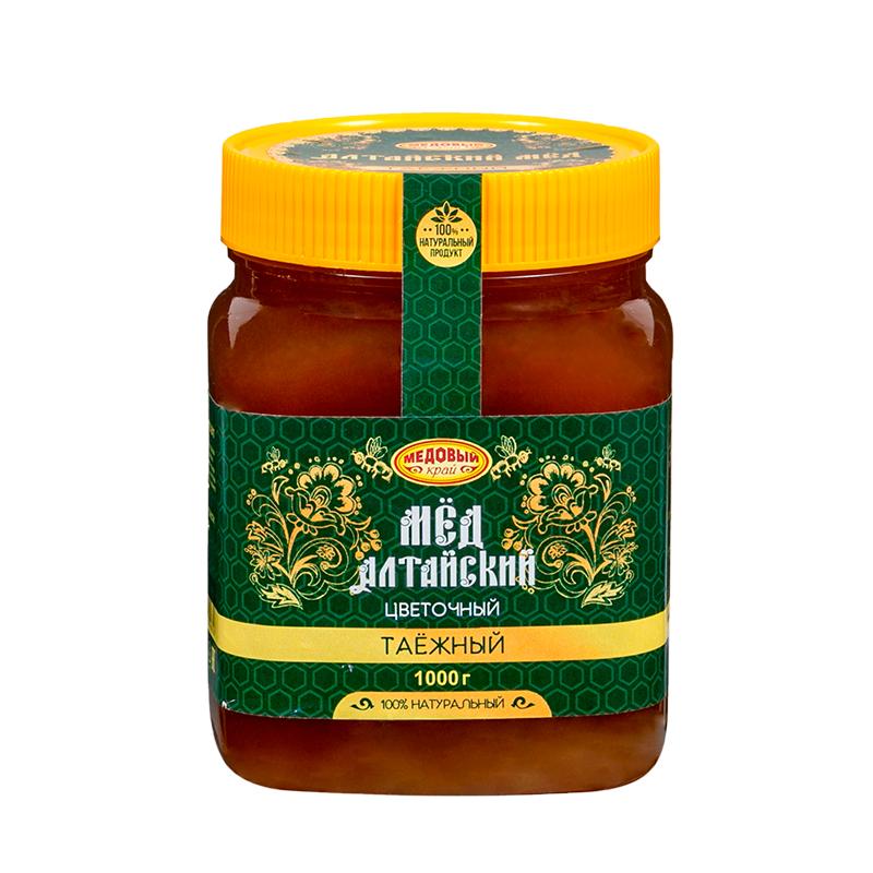 ТАЕЖНЫЙ, Алтайский мёд натуральный цветочный.