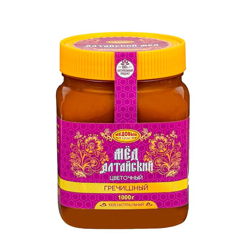 ГРЕЧИШНЫЙ, Алтайский мёд натуральный цветочный.