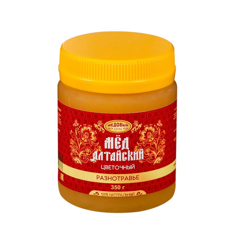 РАЗНОТРАВЬЕ, Алтайский мёд натуральный цветочный.